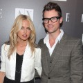 Rachel Zoe and Brad Goreski arrive to the A|X Armani Exchange and ELLE's Joe Zee Disco Glam soiree evening at A|X Robertson Store, LA, May 25, 2010