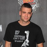 "Mark Salling arrives at the launch of Activision's ""Guitar Hero: Warriors of Rock with Soundgarden"" at Paramount Studios in Los Angeles on September 27, 2010"
