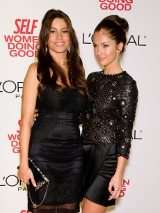 Sofia Vergara and Minka Kelly attend the 3rd Annual Self Magazine Women Doing Good Awards at The Museum of Modern Art, NYC, September 21, 2010