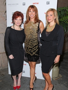 Caroline Manzo, Jill Zarin, Dina Manzo attend the First Annual Jones New York power lunch at The Campbell Apartment, NYC, September 23, 2010