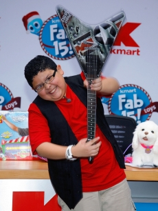 Rico Rodriguez promotes the Fab 15 list of the hottest toys for the holidays at the NASDAQ MarketSite, NYC, September 24, 2010