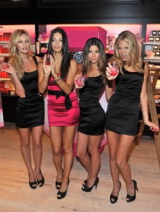 Victoria's Secret Supermodels Candice Swanepoel, Adriana Lima, Lily Aldridge and Erin Heatherton attend Victoria's Secret Beauty Bombshell fragrance launch at Victoria's Secret, SoHo in New York City on September 24, 2010