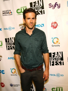 "Ryan Reynolds smiles on the red carpet at the Fantastic Fest screening of ""Let Me In"" at The Paramount Theater in Austin, Texas, on September 23, 2010"