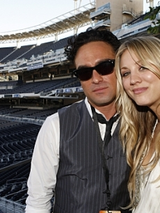 Johnny Galecki and Kaley Cuoco at Comic-Con 2010 on July 24, 2010