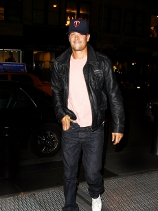 Josh Duhamel steps out in New York City in a Superdry Brad Jacket en-route to dinner with Katherine Heigl, NYC, Sept. 26, 2010
