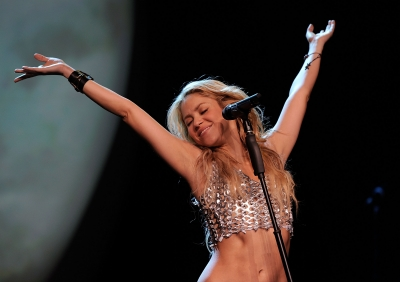 Shakira performs at Madison Square Garden in New York on September 21, 2010
