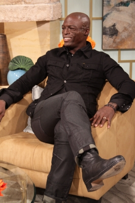 "Seal pays a visit to Access Hollywood Live to debut his new music video, ""Secret,"" on September 29, 2010"