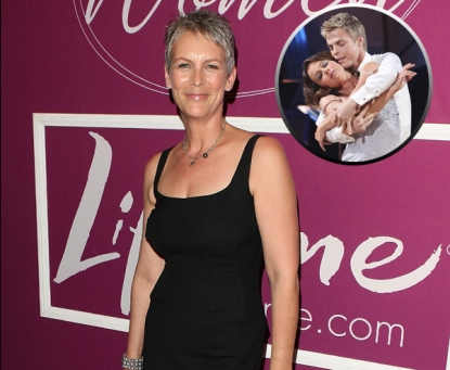 "Jamie Lee Curtis in Beverly Hills on September 24, 2009. Insert: Jennifer Grey and Derek Hough perform on ""Dancing with the Stars"" on September 20, 2010"