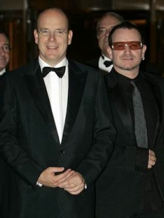Prince Albert of Monaco and Bono, Monaco, October 2006