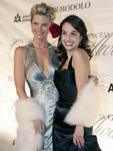 Christie Brinkley & daughter Alexa Joel at Princess Grace's Gala in NYC