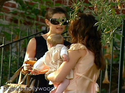 With her pal Katie Holmes and Brooke's baby, Grier