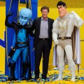 Will Ferell stand next to costumed superhero character 'Megamind' and 'Metro Man' as he addresses a crowd of 1,580 costumed superheroes during the successful attempt to break the Guinness World Record for the largest gathering of superheroes on October 2, 2010 in Los Angeles, California. The event was organized by DreamWorks Animation for the upcoming film, 'Megamind,' to break the Guinness World Record for largest gathering of costumed superheroes.