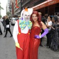 "John Cusimano and Rachael Ray pose in their Roger Rabbit and Jessica costumes as they tape ""The Rachael Ray Show's"" Halloween episode, NYC, Oct. 6, 2010"