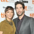 "Zoe Buckman and David Schwimmer attend the ""Trust"" premiere during the 35th Toronto International Film Festival in Toronto, Canada on September 10, 2010"
