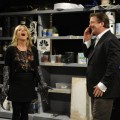 "Jane Krakowsi and Alec Baldwin in a scene from ""30 Rock's"" October 14, 2010 live episode"