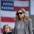 Sarah Jessica Parker walks son James Wilkie Broderick to school in the West Village, NYC, October 15, 2010