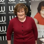 "Susan Boyle poses at a booksigning for her autobiography ""The Woman I Was Born To Be"" at Waterstone's Piccadilly in London, England, on October 16, 2010"