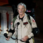 "Bill Murray dons his ""Ghostbusters"" garb onstage during Spike TV's ""SCREAM 2010"" at The Greek Theatre in LA on October 16, 2010"