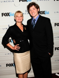 Martha Plimpton and Lucas Neff attend Fox's Fall Eco-Casino party at Boa in West Hollywood, California on September 13, 2010
