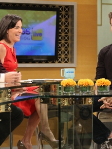 """The Social Network"" star Armie Hammer chats with Billy Bush and Kit Hoover on Access Hollywood Live on October 7, 2010"