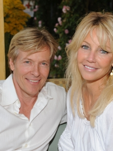 Jack Wagner and Heather Locklear attend the Michael J. Fox Foundation For Parkinson's Research Summer Lawn Party  on May 30, 2009 in Topanga, Calif.