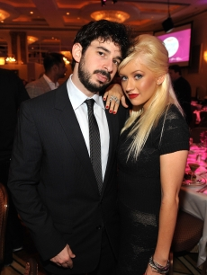 Christina Aguilera and Jordan Bratman attend Variety's 1st Annual Power of Women Luncheon at the Beverly Wilshire Hotel on September 24, 2009 in Beverly Hills