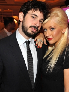 Christina Aguilera &amp; Jordan Bratman attend Variety&#8217;s Annual Power of Women Luncheon at the Beverly Wilshire Hotel on September 24, 2009 in Beverly Hills