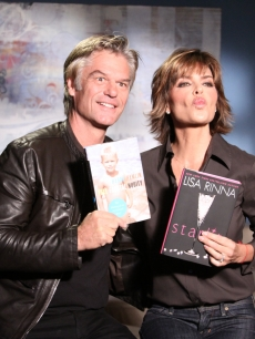 Harry Hamlin and Lisa Rinna promote their new books on Access Hollywood Live on October 13, 2010