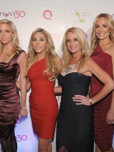 "Kyle Richards, Camille Grammer, Adrienne Maloof, Kim Richards, Taylor Armstrong and Lisa Vanderpump attend ""FFANY Shoes on Sale"" Benefit for Breast Cancer Research and Education, presented by QVC at Frederick P. Rose Hall, Jazz at Lincoln Center in NYC on October 13, 2010"