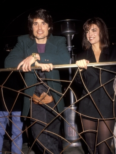 Lisa Rinna and Peter Barton at the Cafe La Boheme grand opening on November 22, 1991