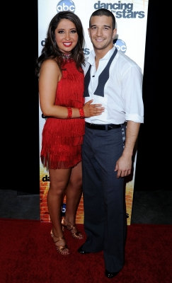"Bristol Palin and Mark Ballas pose at ""Dancing with the Stars"" Season Premiere at CBS Studios in LA on September 20, 2010"