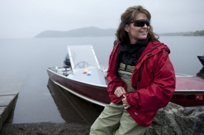 Sarah Palin takes a moment to herself on &#8220;Sarah Palin&#8217;s Alaska&#8221; on TLC