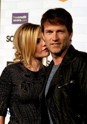 """True Blood"" stars Anna Paquin and Stephen Moyer arrive at Spike TV's ""Scream 2010"" at The Greek Theatre, Los Angeles, October 16, 2010"
