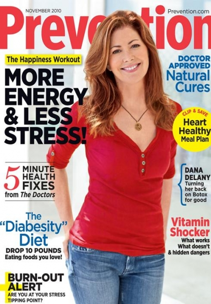 Dana Delaney on the November 2010 cover of Prevention magazine