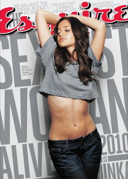 Minka Kelly on the November 2010 cover of Esquire