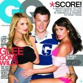 """Glee"" stars Dianna Agron, Cory Monteith and Lea Michele on the cover of GQ (November 2010)"