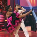 "Brandy and Maksim Chmerkovskiy dance a quickstep to the ""Friends"" theme on ""Dancing with the Stars,"" Oct. 18, 2010"
