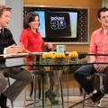 Billy Bush and Kit Hoover chat with Johnny Knoxville on Access Hollywood Live on October 20, 2010