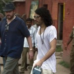Russell Brand walks out of Ranthambore Fort after taking a tiger safari in Ranthambore, India, October 22nd, 2010