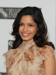 "Freida Pinto promotes the film ""Miral"" at the 54th BFI London Film Festival at Vue West End, London, October 18, 2010"
