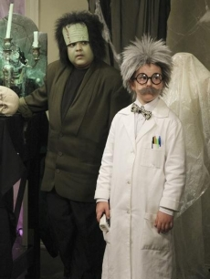 "This kids from ""Modern Family"" — Rico Rodriguez and Nolan Gould — dress up for the show's Halloween episode 2010"