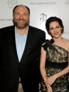 James Gandolfini and Kristen Stewart attend The Cinema Society & Everlon Diamond Knot Collection's screening of 'Welcome To The Rileys' on October 18, 2010 at the Tribeca Grand Hotel in New York City.