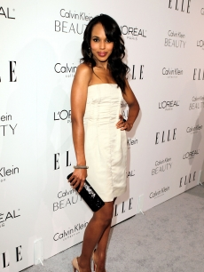 The lovely Kerry Washington strikes a pose at ELLE&#8217;s 17th Annual Women in Hollywood Tribute at The Four Seasons Hotel on October 18, 2010 in Beverly Hills