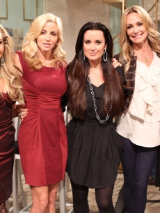"""The Real Housewives of Beverly Hills"" stars Adrienne Maloof, Camille Grammer, Kyle Richards, Taylor Armstrong and Lisa VanderPump stop by Access Hollywood Live on October 20, 2010"
