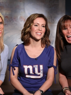 Our gorgeous Access Hollywood Live guests: Cheryl Hines, Alyssa Milano and Melissa Rivers, Burbank, Oct. 22, 2010