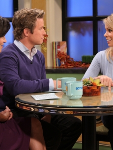 Cheryl Hines visits Access Hollywood Live with Billy Bush and Kit Hoover, Burbank, Oct. 22, 2010