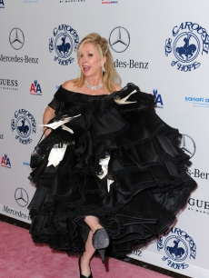 Kathy Hilton shows off her bold fashion choice at the 32nd Anniversary Carousel Of Hope Gala at the Beverly Hilton Hotel in Beverly Hills on October 23, 2010