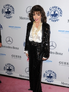 Joan Collins arrives at the 32nd Anniversary Carousel Of Hope Gala at the Beverly Hilton Hotel on October 23, 2010 in Beverly Hills, California.