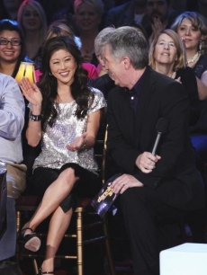 "Kristi Yamaguchi hits the ""Dancing"" audience a week ahead of her return to the show for its 200th episode, Oct. 26, 2010"