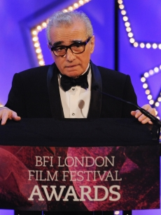 Martin Scorsese pays tribute to the work of the BFI National Archive at the ceremony for the 54th BFI London Film Festival Awards at LSO St Lukes, London, October 27, 2010